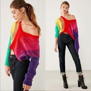 Silence + Noise Rainbow Chenille Sweater